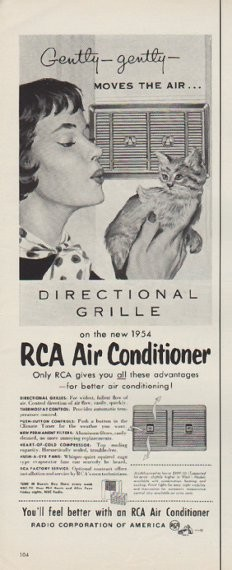 1954 Rca Air Conditioner Vintage Ad Quot Moves The Air Quot