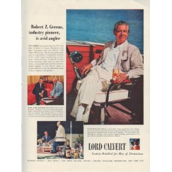 "1954 Lord Calvert Ad ""Robert Z. Greene"""