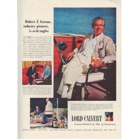 "1954 Lord Calvert Ad ""Robert Z. Greene"""