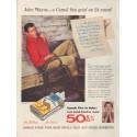 "1954 Camel Cigarettes Ad ""John Wayne"""