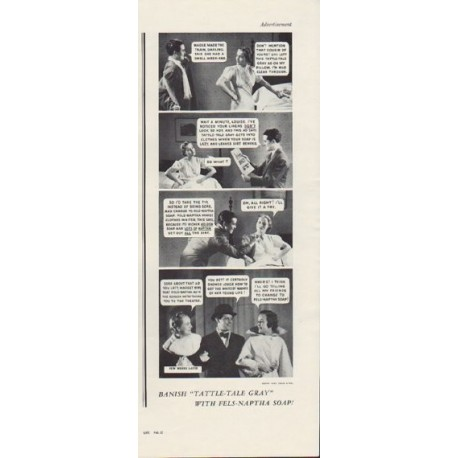 "1937 Fels-Naptha Soap Ad ""Tattle-Tale Gray"""