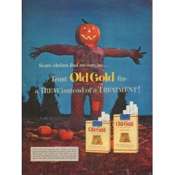 "1953 Old Gold Cigarettes Ad ""Scare claims"""