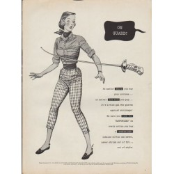 "1953 Sanforized Ad ""On Guard"""