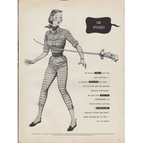 "1953 Sanforized Ad ""On Guard"""