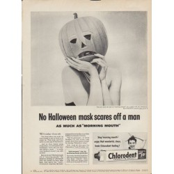 "1953 Chlorodent Ad ""No Halloween mask"""