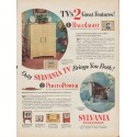 """1953 Sylvania TV Ad """"2 Great Features"""""""