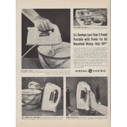 "1953 General Electric Ad ""Portable with Power"""
