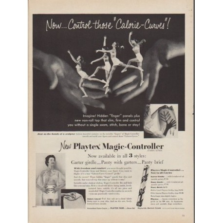 "1953 Playtex Ad ""Calorie-Curves"""