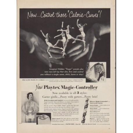 "1953 Playtex Ad ""Calorie-Curves"""
