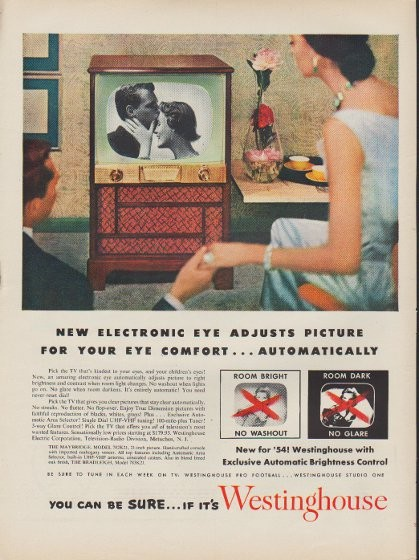 1953 Westinghouse Vintage Ad Quot New Electronic Eye Quot