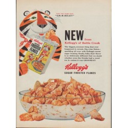 "1953 Kellogg's Frosted Flakes Ad ""Battle Creek"""