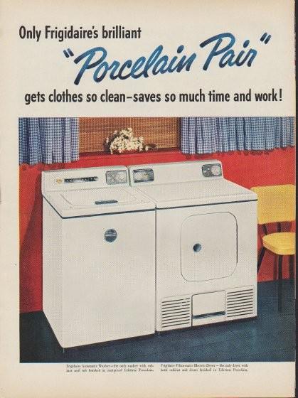 1953 Frigidaire Vintage Ad Quot Porcelain Pair Quot