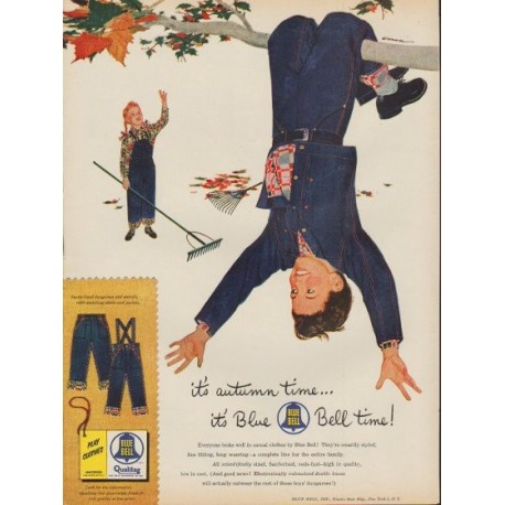"1953 Blue Bell Ad ""it's autumn time"""