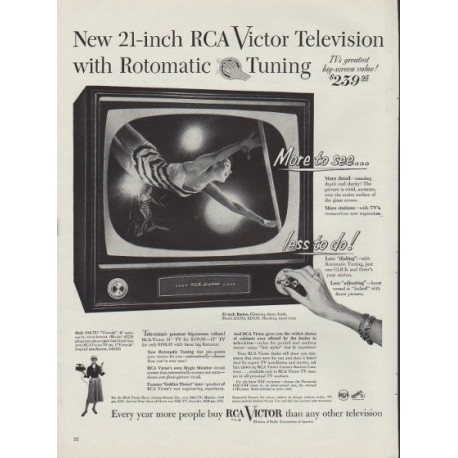 "1953 RCA Victor Ad ""New 21-inch"""
