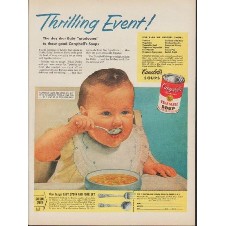 """1953 Campbell's Soup Ad """"Thrilling Event!"""""""