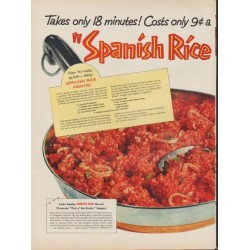"1953 Minute Rice Ad ""Spanish Rice Pronto"""