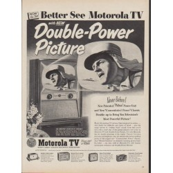 "1953 Motorola Television Ad ""Double-Power Picture"""