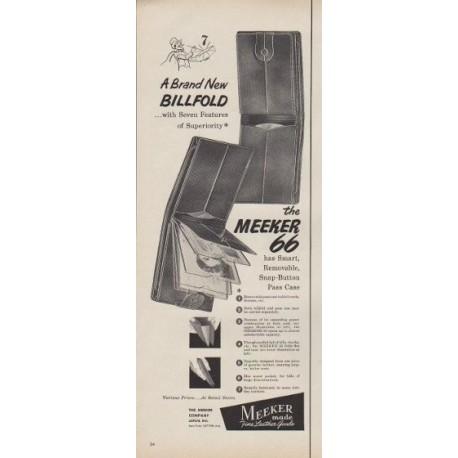 "1953 Meeker Ad ""A Brand New Billfold"""