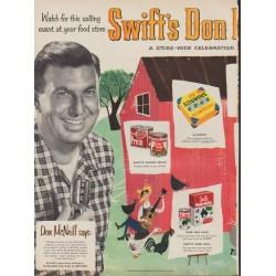 "1953 Swift's Meats Ad ""Don McNeill Jamboree"""