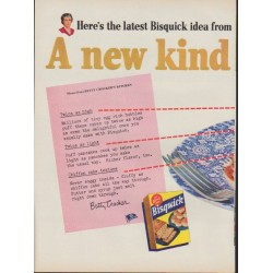 "1953 Bisquick Ad ""A new kind of Pancake!"""