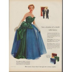 "1953 Kotex Ad ""Not a shadow of a doubt"""