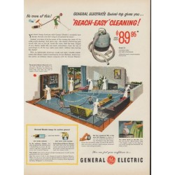 "1953 General Electric Ad ""Reach-Easy Cleaning"""