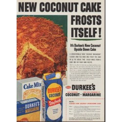 "1953 Durkee's Ad ""New Coconut Cake"""