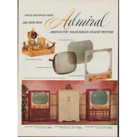 """1953 Admiral Television Ad """"Four Reasons"""""""