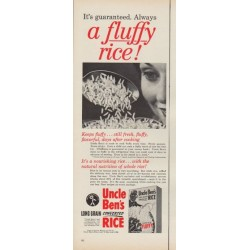 "1953 Uncle Ben's Ad ""a fluffy rice!"""