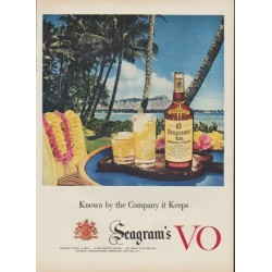 "1953 Seagram's V.O. Canadian Whisky Ad ""Company it Keeps"""