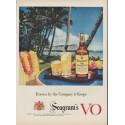 "1953 Seagram's V.O. Canadian Whisky Ad ""Company it Keeps"""