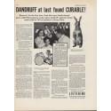 """1937 Listerine Ad """"Dandruff Found Curable!"""""""
