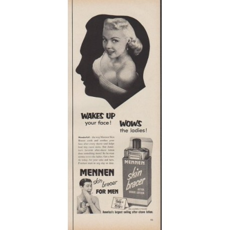 """1953 Mennen Ad """"Wakes Up your face!"""""""
