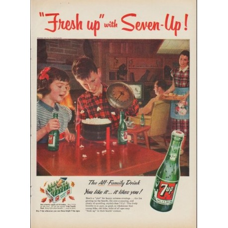 "1953 7-Up Ad ""Fresh up"""