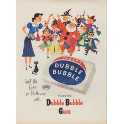 "1953 Fleer's Dubble Bubble Gum Ad ""treat the Kids"""