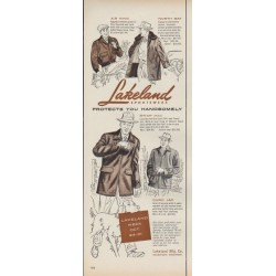 "1953 Lakeland Sportwear Ad ""Protects You Handsomely"""