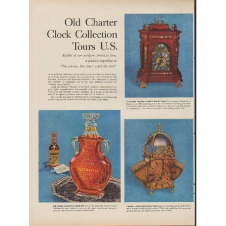 "1953 Old Charter Ad ""Clock Collection"""