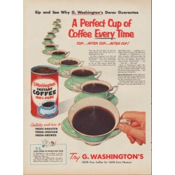 "1953 G. Washington's Coffee Ad ""Sip and See"""