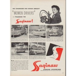 "1953 Saginaw Power Steering Ad ""Women Drivers"""