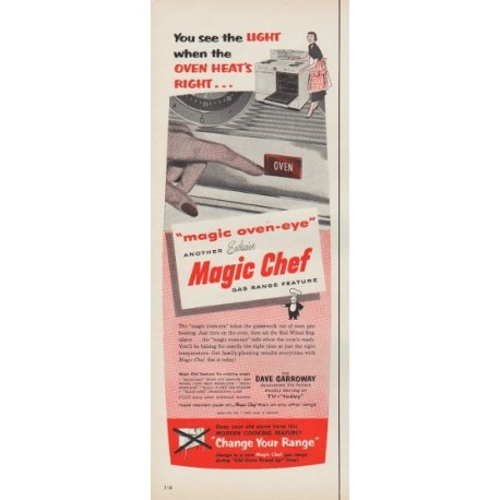 """1953 Magic Chef Ad """"You see the Light"""""""