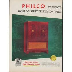 "1953 Philco Television Ad ""Deep Dimension"""