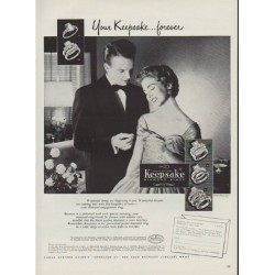 "1953 Keepsake Diamond Rings Ad ""Your Keepsake"""
