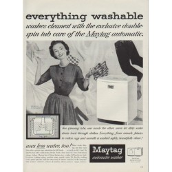 "1953 Maytag Ad ""everthing washable"""