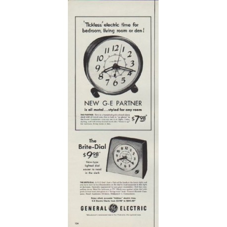 "1953 General Electric Ad ""Tickless"""
