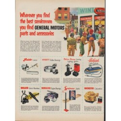 "1953 General Motors Ad ""the best servicemen"""