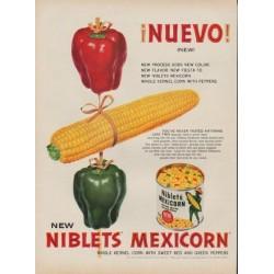 """1953 Niblets Ad """"Nuevo!"""""""