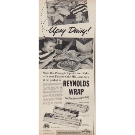"""1953 Reynolds Wrap Vintage Ad """"Upsy-Daisy!"""""""