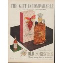 "1953 Old Forester Whisky Ad ""The Gift Incomparable"""