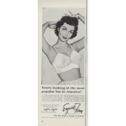 "1953 Exquisite Form Bras Ad ""most popular bra"""