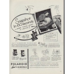 "1953 Polaroid Ad ""Snapshot in 60 seconds"""